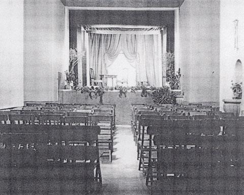 """Der """"Theatersaal"""" in der Vorhalle der zerstörten Kilianskirche"""