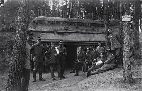 Russland, August 1917, Waldstellung, Bat. Schweinfurt, im Newdagrund