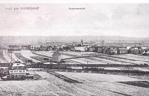 Blick vom Wasserturm auf Schweinfurt ca. 1915