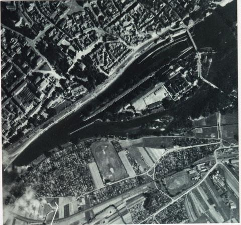 Luftaufnahme 1943 mit altem Mainverlauf