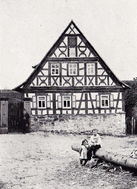 Wohnhaus Nummer 43 im Fachwerkstil, erbaut im Jahre 1755