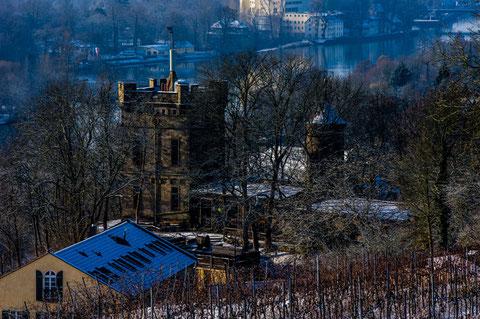 Blick vom Beerenhüterturm auf Peterstirn und Main - Januar 2015