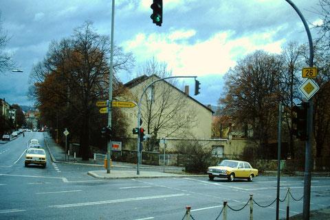 Turngemeinde - rechts Fehrstraße, dahinter Klingenbrunnstraße, geradeaus Deutschhöfer Straße