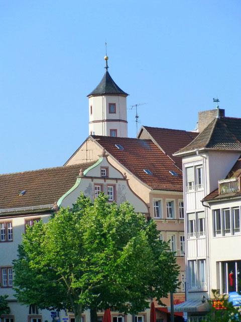 Marktplatz - Blick auf Schrotturm