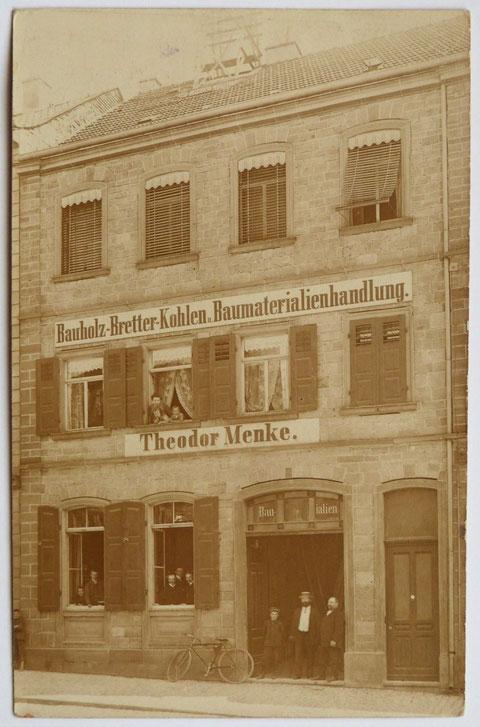 Firma Menke - Manggasse 20 - um 1910