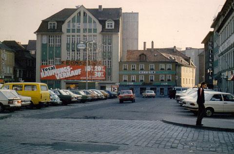 Kroneneck am Alten Postplatz Schweinfurt (Heute Georg-Wichtermann-Platz)