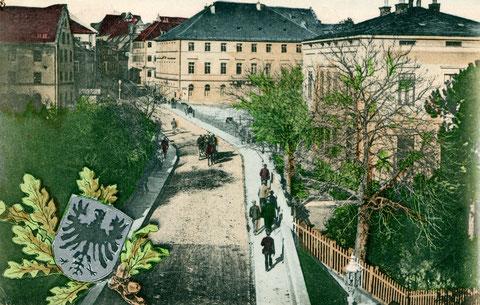 Der Stadteingang in die Brückenstraße um 1900
