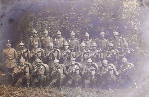 Soldaten der deutschen Wehrmacht in Wipfeld 1916