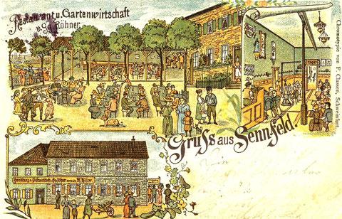 Restaurant und Gartenwirtschaft Georg Röhner um 1899. Heute Metzgerei Kritzner