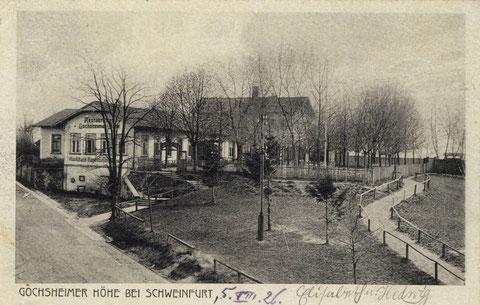 Die Wirtschaft Gochsheimer Höhe 1926
