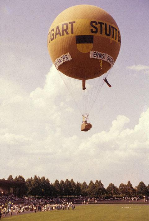 7. Juni 1959 - Aufstieg des Ballons Stuttgart