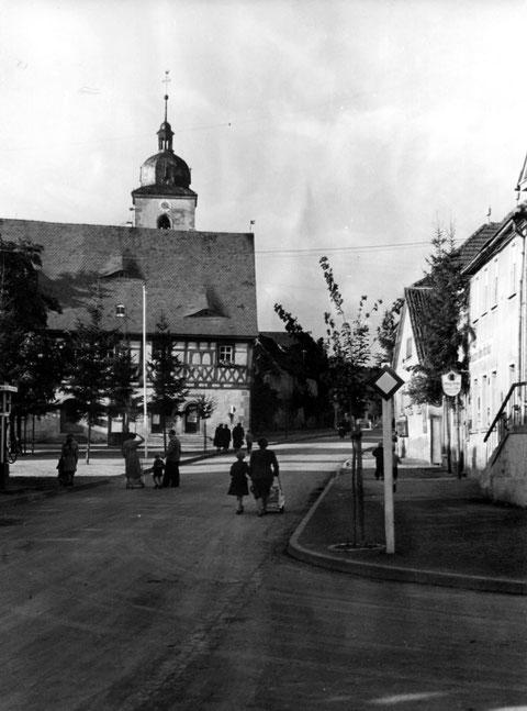 1955 - Plan und Rathaus - Danke Peter Wiegand