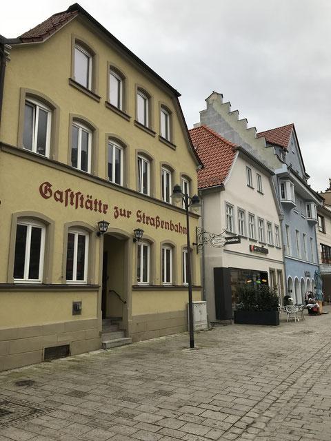 """Die """"Gaststätte zur Straßenbahn"""" - hier im Jahr 2018 - erinnert an die Zeit der Pferdebahn"""