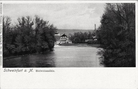 Blick zur Bleiweißmühle Schweinfurt