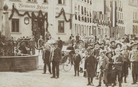 Haus Hagenmeyer ca. 1895 - Dankeschön an Jens Vogel (Copyright bei Jens Vogel – Foto Vogel – Mönchengladbach) - bitte durch Anklicken vergrößern