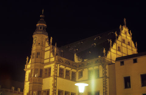Dezember 1965 - Rathaus bei Nacht