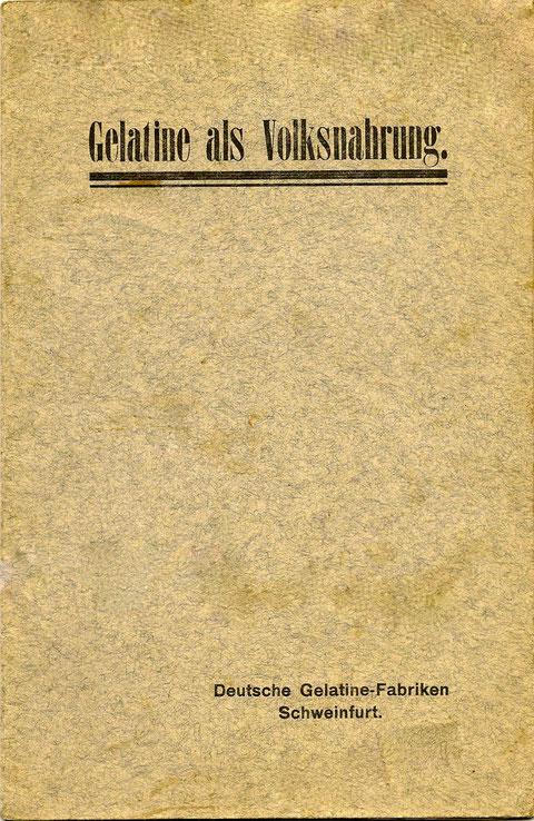 Titel eines Buches, erschienen in Schweinfurt in den 1930ern