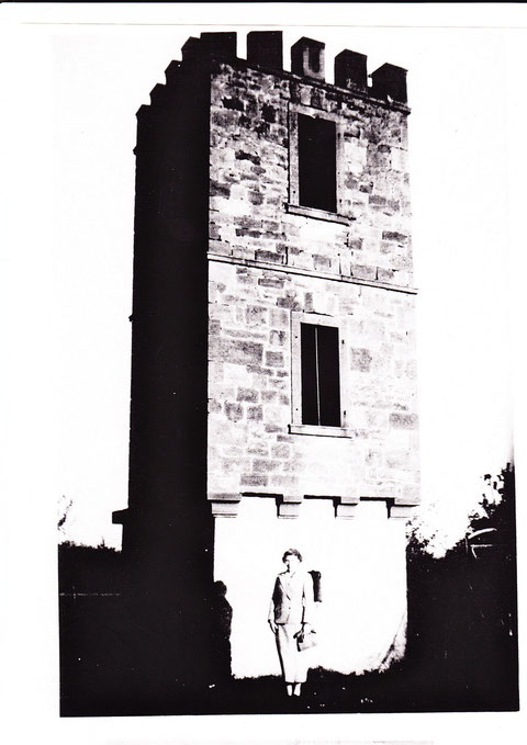Der Wengertsturm 1945 - aus der Sammlung Edgar Kolb