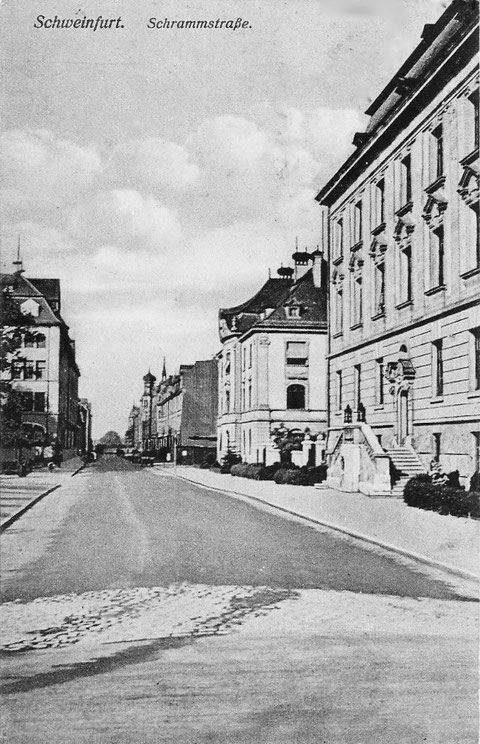 Blick vom Schillerplatz in die Schrammstraße - Vorkriegszeit