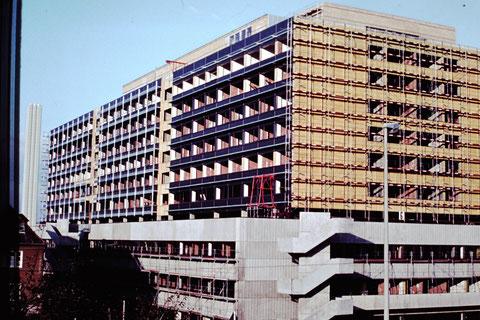 5.10.1977 - Baustelle Leopoldina-Krankenhaus- Danke an Christel Feyh - Foto Helmut Feyh