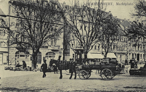 """Marktplatz um 1910 mit """"Lügenbeutel"""""""