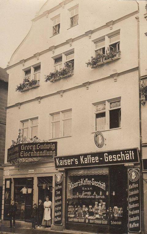 ca. 1908 - Ecke Metzgergasse (heute leerstehend - zuvor McDonalds)