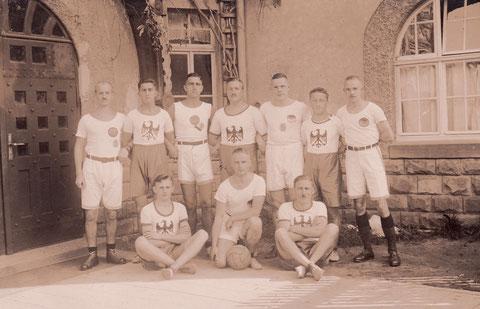 Wettspiel am 12. =ktober 1924 gegen deutschen Meister Licht-Luft Frankfurt 21:28