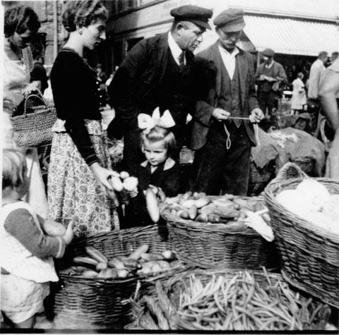 Vor der Einmündung der Keßlergasse in den 1940ern