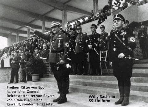 Brot und Spiele bei der Einweihung des Willy-Sachs-Stadions  im Juli 1936