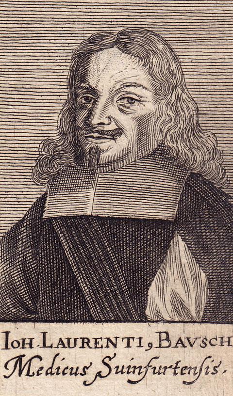 Johann Lorenz Bausch - Kupferstich aus Paul Freher, Theatrum Virorum Eruditione Clarorum. Nürnberg 1688