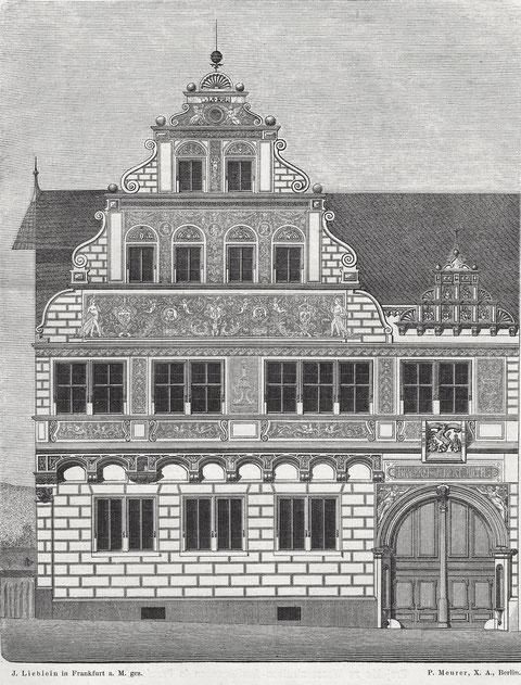 Zeichnung des Architekten Lieblein