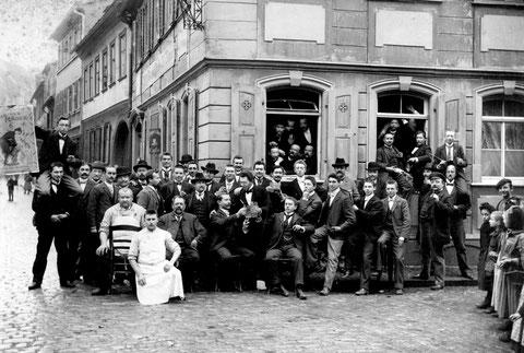 Schlachtschüssel Ruder-Club 1902 Ecke Metzgergasse (Nr.15)/Judengasse, links Metzgergasse