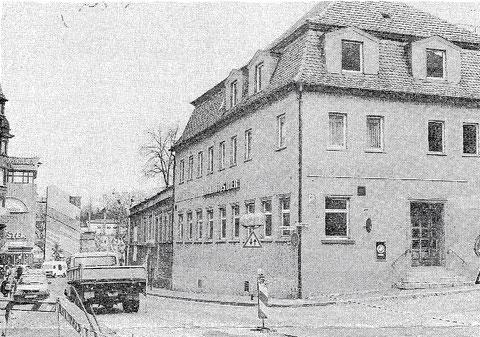 Cafe Beier 1991 vor dem Abriss - Burggasse 1/Ecke Rückertstraße