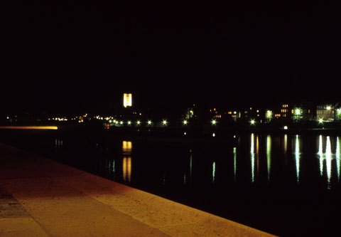 Dezember 1965 - Der Main bei Nacht