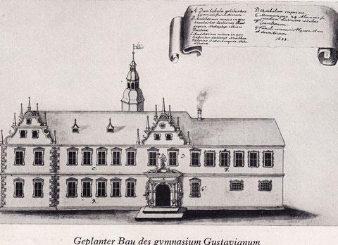 Ursprüngliche Planung des Gymansiums in Schweinfurt