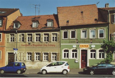 Gasthaus Wilder Mann und Karosseriebau Ludwig (steht nicht mehr)