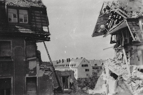 Nach Luftangriff 17.09.1943 - Neutorstraße 41/43 - vergrößerbar!
