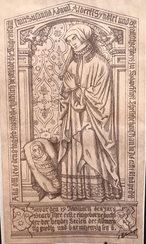 """Rekonstruktion des Epitaphs der """"auferstandenen Frau"""""""