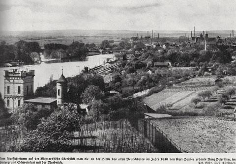 Peterstirn und Blick auf die Stadt um 1935 - vergrößern!