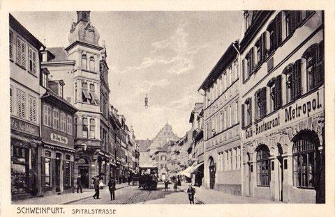 ca. 1909 in der Spitalstraße