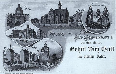 mit Geldersheimer und Gochsheimer Tracht - ca. 1898