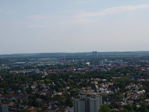 Blick vom SKF-Hochhaus