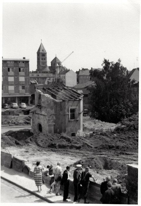Das zerstörte Gelände des Lebküchnerhauses