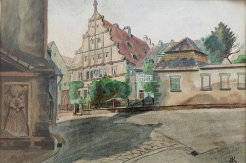 Aquarell aus der Vorkriegszeit - 1929
