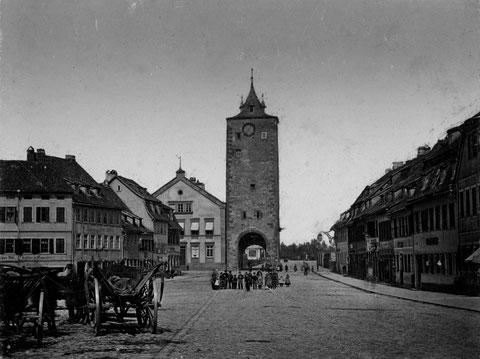 Kornmarkt mit Obertor - Danke an das Stadtarchiv