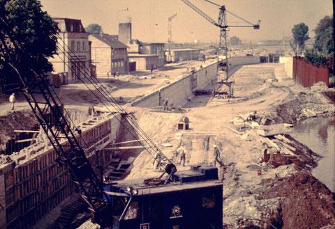 Schleusenbau Mai 1961