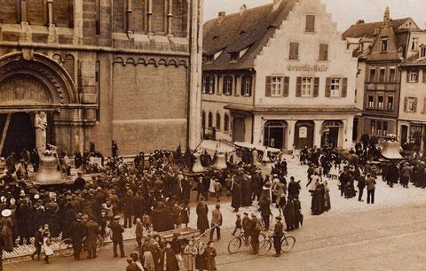 Glockenweihe im Jahr 1913
