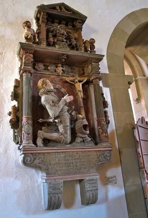 Das Denkmal für Steinrück, heute in der St. Johanniskirche Schweinfurt