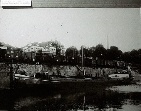 Vorkriegsfoto - im Hintergrund die Höpflingervilla und die Heimann-Villa