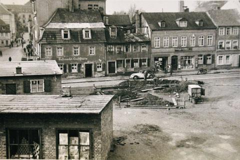 Roßmarkt Ende der 1940er - Kriegsschäden noch deutlich sichtbar